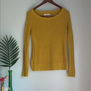 Ann Taylor Mustard colored Sweater